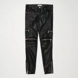 Skórzane spodnie na jesień