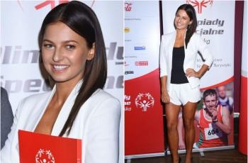 Anna Lewandowska wspiera sportowc�w niepe�nosprawnych intelektualnie
