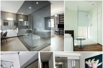 Sypialnia połączona z łazienką - hit wnętrzarski!