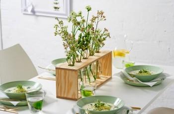 Wiosenny stojak na kwiaty - DIY