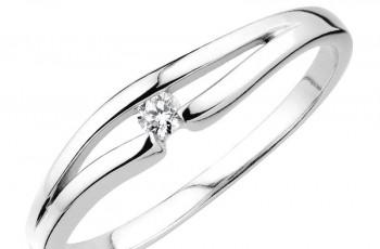 Pierścionki zaręczynowe Apart z białego złota