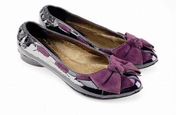 Buty VENEZIA w śliwkowym kolorze - jesień-zima 2007/2008