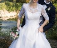 Suknia ślubna biała Gladis kolekcja 2015 tanio