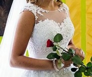 Suknia ślubna Vanilla Sposa Aspazja koronka