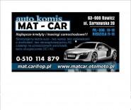 AUTO KOMIS MAT-CAR