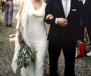 Delikatna suknia jedwabna Renato Nucci ivory boho