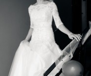 Piękna suknia ślubna, r. 34/36 + dwa bolerka gratis!