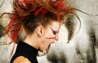 Kolorowy makijaż do kolorowych włosów...?