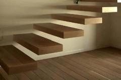 Nowoczesne drewniane schody