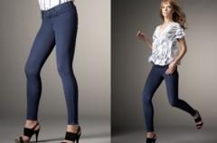 Moda na jegginsy - jeansy + legginsy