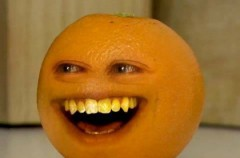 Bardzo wku...rzająca pomarańcza. Annoying Orange