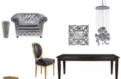 Stół w stylu Glamour