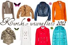 Płaszcze i kurtki damskie na sezon wiosna-lato 2012