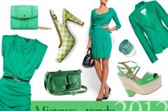 Miętowy - trendy wiosna/lato 2012
