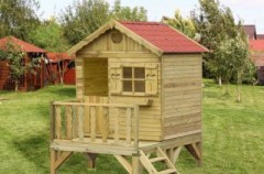 Bezpieczny plac zabaw w ogrodzie
