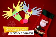Świąteczne renifery z papieru