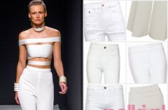 Białe spodnie na wiosnę i lato