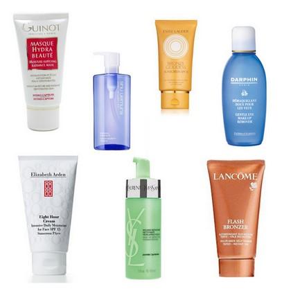 Najlepsze kosmetyki do pielęgnacji skóry ciała i twarzy - kolaż