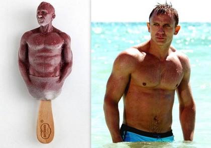 Lodowy Daniel Craig do polizania