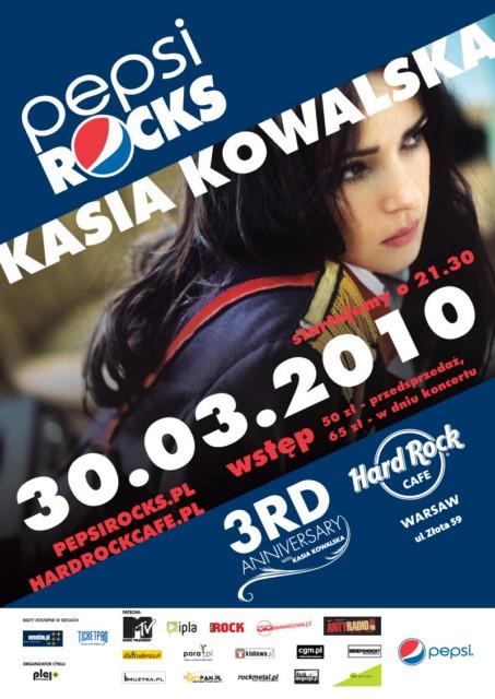 Koncert Kasi Kowalskiej na wtorkowym PEPSI Rocks