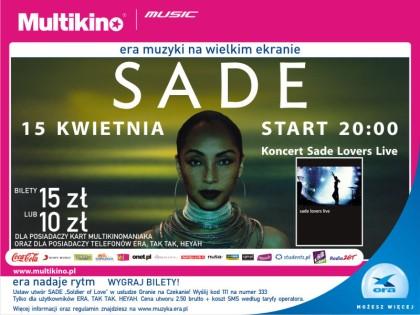 Koncert Sade na ekranie Multikino Złote Tarasy – ZAPROSZENIA!!!