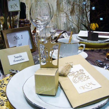 Personalizowanie wesel - czyli inicjały Młodej Pary