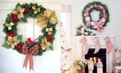 Njciekawsze wieńce na Boże Narodzenie