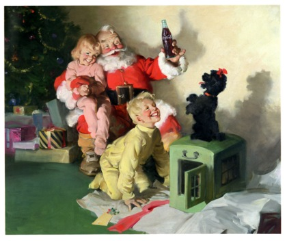 Współczesny wizerunek Świętego Mikołaja i Coca-Cola
