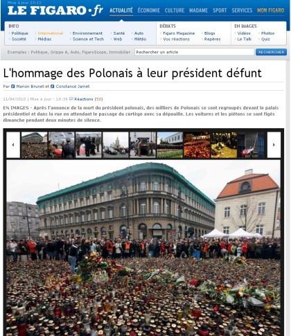 Informacja o tragedii w Smoleńsku obiegła cały swiat