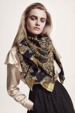 be�owa bluzka H&M z falbanami - kolekcja jesienna