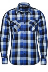 niebieska koszula New Yorker w kratk� - jesie�-zima 2010/2011