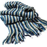 Комментарий: Вязаный мужской шарф Вязание спицами.