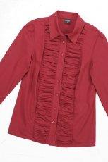 czerwona koszulka Bialcon ze zdobieniami - moda jesie�/zima 2010