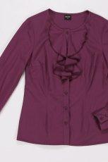 bordowa bluzka Bialcon ze zdobieniami - moda jesie�/zima 2010