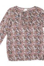 popielata bluzka Bialcon w kwiaty - moda jesie�/zima 2010