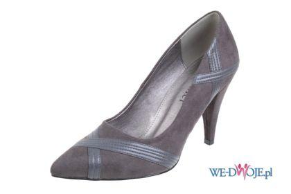 popielate pantofle CCC - CCC - najnowsza kolekcja Jennifer&Jennifer