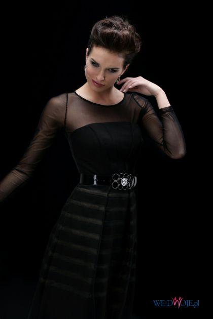 czarna sukienka Modesta z paskiem - jesień/zima 2010/2011