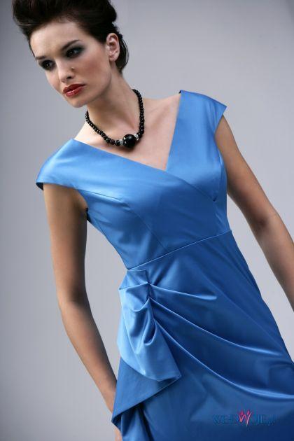 błękitna sukienka wieczorowa Modesta - jesień/zima 2010/2011