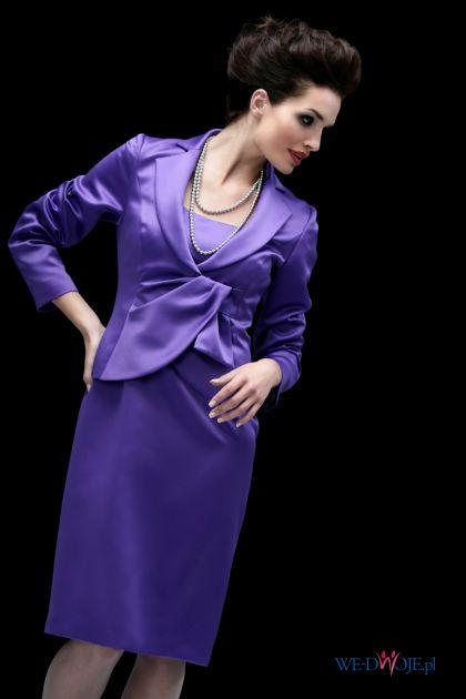 fioletowa sukienka wieczorowa Modesta - jesień/zima 2010/2011
