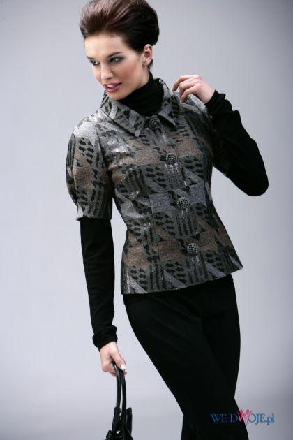 popielata bluzka Modesta we wzory - jesień/zima 2010/2011