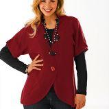 bordowy sweter Cellbes z guzikami - jesie�/zima 2010/2011