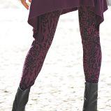 czarne legginsy Cellbes we wzory - jesie�/zima 2010/2011