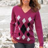 r�owy sweter Cellbes we wzory - jesie�/zima 2010/2011