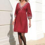 bordowa sukienka Cellbes - jesie�/zima 2010/2011