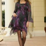 czarna sukienka Cellbes we wzory - jesie�/zima 2010/2011