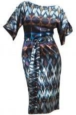 kolorowa suknia Gapa Fashion we wzory - jesie�/zima 2010/2011