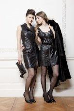 czarna sukienka Ochnik ze sk�ry - kolekcja jesienno-zimowa