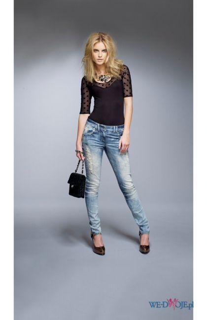 błękitne spodnie Halens dżinsowe - kolekcja jesienno-zimowa