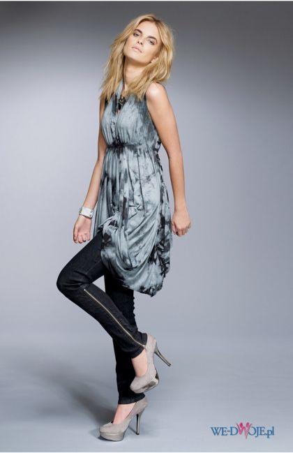 srebrna sukienka Halens we wzory - kolekcja jesienno-zimowa