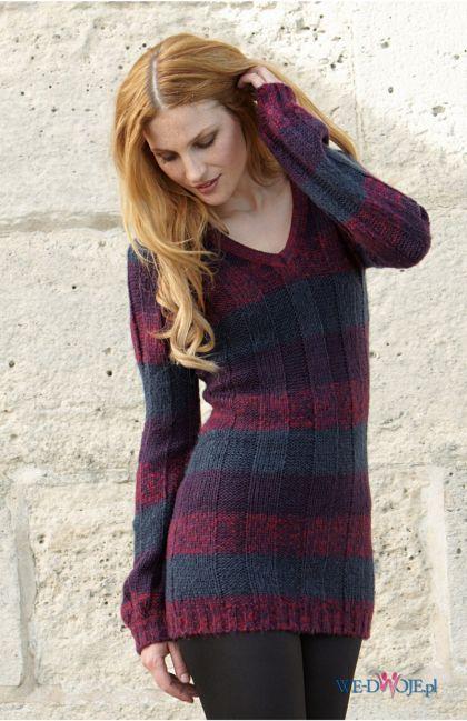 sweter Halens w pasy - kolekcja jesienno-zimowa